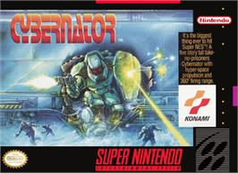 Box cover for Cybernator on the Nintendo SNES.