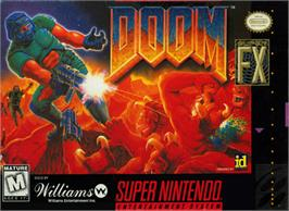 Box cover for DOOM on the Nintendo SNES.