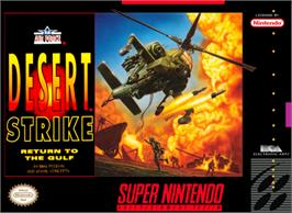 Box cover for Desert Strike: Return to the Gulf on the Nintendo SNES.