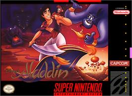 Box cover for Disney's Aladdin on the Nintendo SNES.