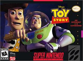 Box cover for Disney's Toy Story on the Nintendo SNES.
