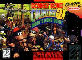 Box cover for Donkey Kong Country 2: Diddy's Kong Quest on the Nintendo SNES.