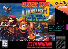 Box cover for Donkey Kong Country 3: Dixie Kong's Double Trouble! on the Nintendo SNES.