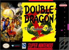 Box cover for Double Dragon V: The Shadow Falls on the Nintendo SNES.