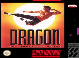 Box cover for Dragon: The Bruce Lee Story on the Nintendo SNES.