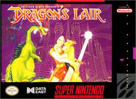 Box cover for Dragon's Lair on the Nintendo SNES.