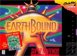 Box cover for EarthBound on the Nintendo SNES.