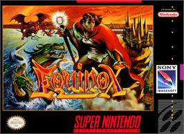 Box cover for Equinox on the Nintendo SNES.