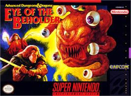 Box cover for Eye of the Beholder on the Nintendo SNES.