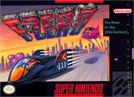 Box cover for F-Zero on the Nintendo SNES.