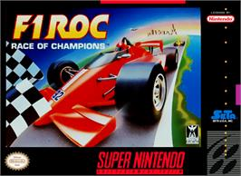 Box cover for F1ROC: Race of Champions on the Nintendo SNES.