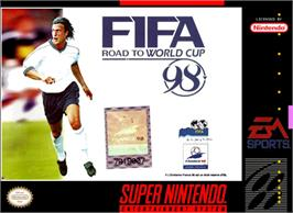 Box cover for FIFA 98: Road to World Cup on the Nintendo SNES.