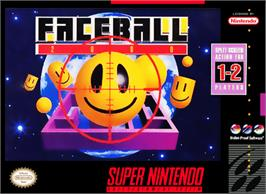 Box cover for Faceball 2000 on the Nintendo SNES.