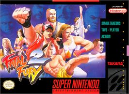 Box cover for Fatal Fury 2 on the Nintendo SNES.