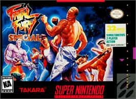 Box cover for Fatal Fury Special on the Nintendo SNES.