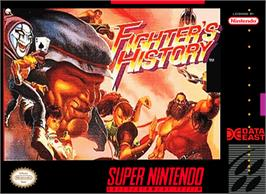 Box cover for Fighter's History on the Nintendo SNES.