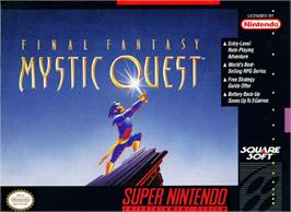 Box cover for Final Fantasy: Mystic Quest on the Nintendo SNES.