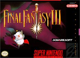 Box cover for Final Fantasy III on the Nintendo SNES.