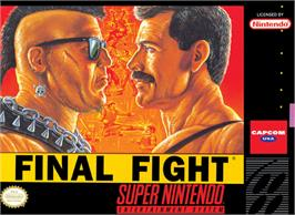 Box cover for Final Fight on the Nintendo SNES.