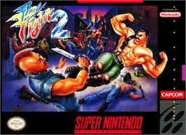 Box cover for Final Fight 2 on the Nintendo SNES.