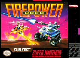 Box cover for Firepower 2000 on the Nintendo SNES.