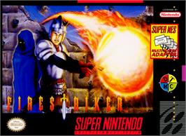 Box cover for Firestriker on the Nintendo SNES.