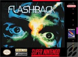 Box cover for Flashback: The Quest for Identity on the Nintendo SNES.