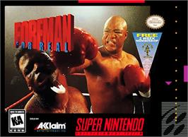 Box cover for Foreman for Real on the Nintendo SNES.