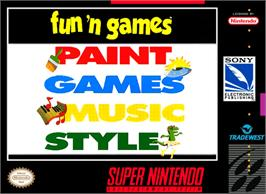 Box cover for Fun 'N Games on the Nintendo SNES.