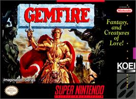 Box cover for Gemfire on the Nintendo SNES.