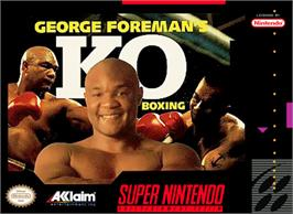 Box cover for George Foreman's KO Boxing on the Nintendo SNES.