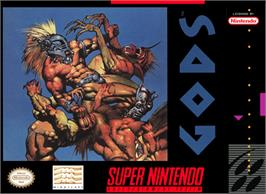 Box cover for Gods on the Nintendo SNES.