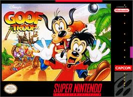 Box cover for Goof Troop on the Nintendo SNES.