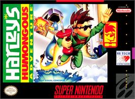 Box cover for Harley's Humongous Adventure on the Nintendo SNES.