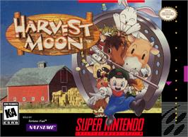 Box cover for Harvest Moon on the Nintendo SNES.