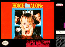 Box cover for Home Alone on the Nintendo SNES.