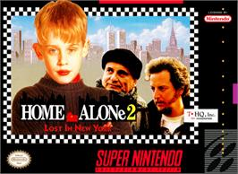 Box cover for Home Alone 2: Lost in New York on the Nintendo SNES.