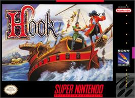 Box cover for Hook on the Nintendo SNES.