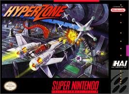 Box cover for HyperZone on the Nintendo SNES.
