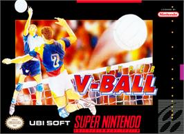 Box cover for Hyper V-Ball on the Nintendo SNES.