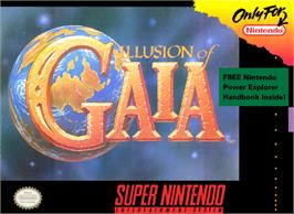 Box cover for Illusion of Gaia on the Nintendo SNES.