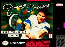 Box cover for Jimmy Connors Pro Tennis Tour on the Nintendo SNES.