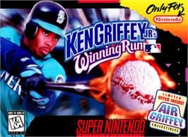 Box cover for Ken Griffey Jr.'s Winning Run on the Nintendo SNES.