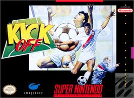 Box cover for Kick Off on the Nintendo SNES.