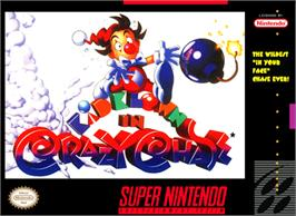 Box cover for Kid Klown in Crazy Chase on the Nintendo SNES.