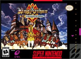 Box cover for King Arthur & the Knights of Justice on the Nintendo SNES.