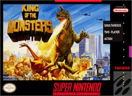 Box cover for King of the Monsters on the Nintendo SNES.