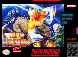 Box cover for King of the Monsters 2: The Next Thing on the Nintendo SNES.