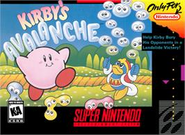 Box cover for Kirby's Avalanche on the Nintendo SNES.