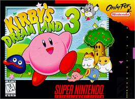 Box cover for Kirby's DreamLand 3 on the Nintendo SNES.